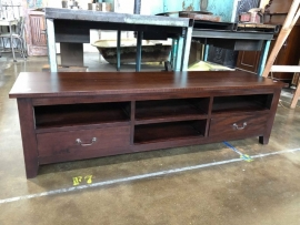 Low line TV Cabinet - Hardwood