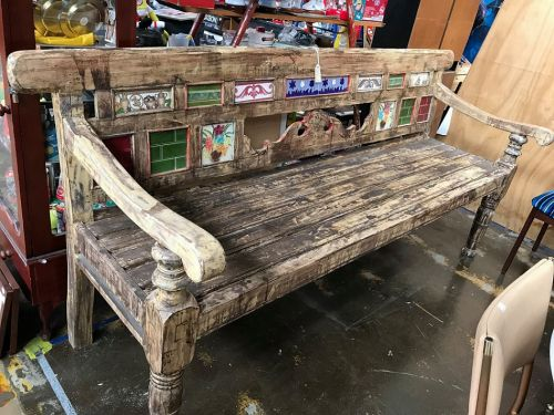 Large Rustic Bench