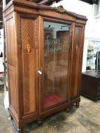 Stunning Glass Front French Inlaid Armiore