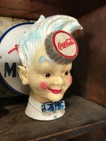 Cast Iron Coke Head Moneybox