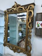 Silik Large Ornate Gold Framed Mirror