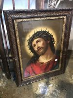 High Quality Religious Print in Ornate Wooden Frame