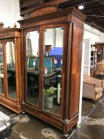French Mirrored Armoire