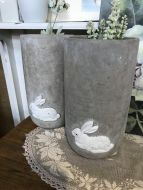 Concrete Rabbit Pots