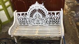 Antique cast iron bench seat