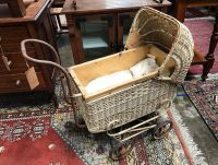 Vintage pram made in melbourne 1940s by Brownes baby carriages