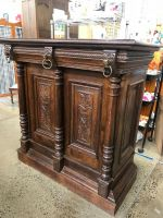Carved Sideboard / Bar with Lions Head