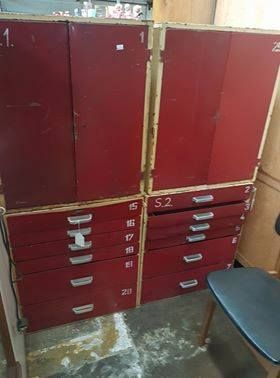 Pair of steel cabinets