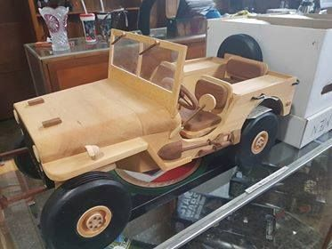 Hand crafted Huon Pine & Blackwood Jeep