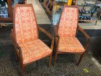 Pair Retro Teak Chairs