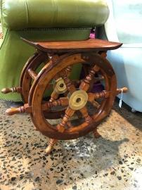 Vintage Ships Wheel Stool