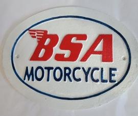 BSA cast iron sign