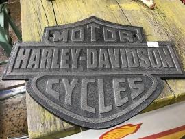 Cast Iron Harley Sign