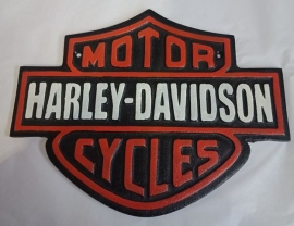 Harley Davidson Cast Iron Plaque