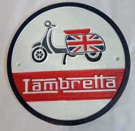 Lambretta cast iron sign