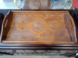 Carved serving tray