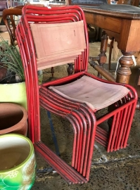 1940's Stack-able Metal Chairs -