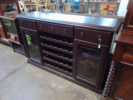 TV unit with wine racks